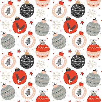 Christmas seamless pattern with toys.