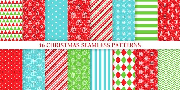 クリスマスのシームレスなパターン