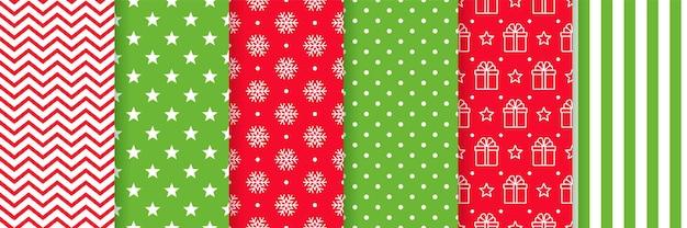 クリスマスのシームレスなパターン。