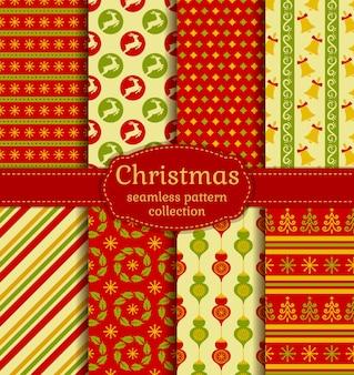 クリスマスのシームレスなパターンコレクション。