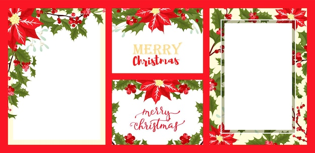 크리스마스 시즌 카드 세트