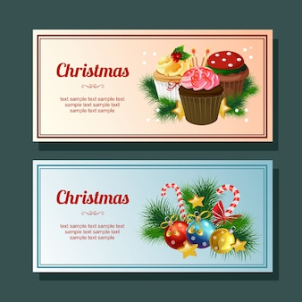 Christmas season decoration horizontal banner