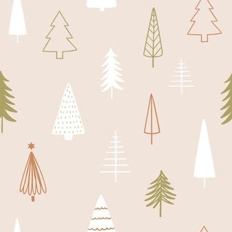 Рождественский сезон вектор бесшовный фон