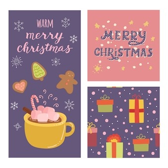 크리스마스 세트 카드