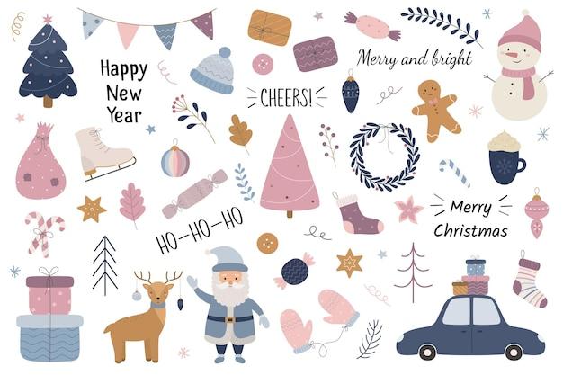 Christmas set happy new year