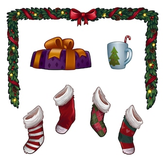 Рождественский набор. иллюстрация