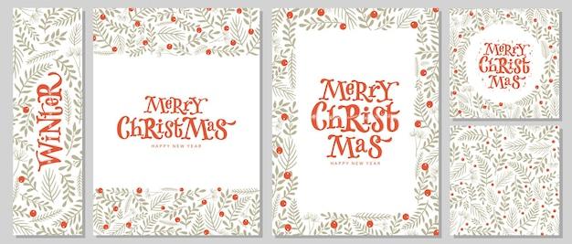 カードポスタープリントのクリスマスセット