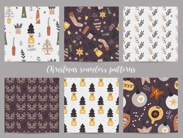 완벽 한 패턴의 크리스마스 세트입니다.