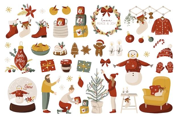Рождественский набор с элементами.