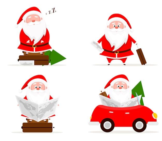 サンタ旅行とクリスマスセット