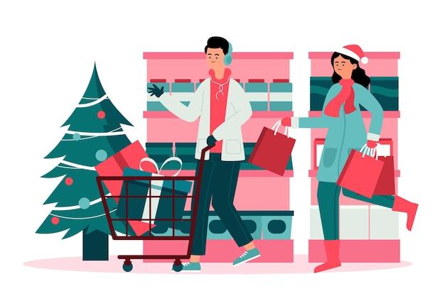 クリスマスのショッピングシーン