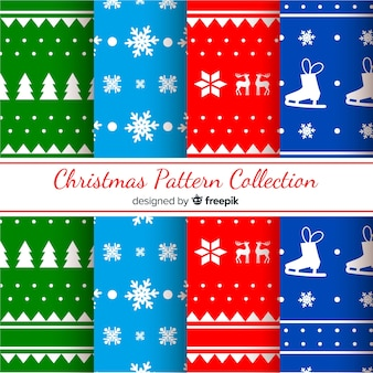Christmas silhouettes pattern collection