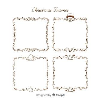 Cornice natalizia semplice