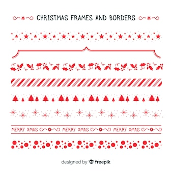 Christmas simple frames and borders collection