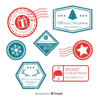 Christmas simple stamps collection