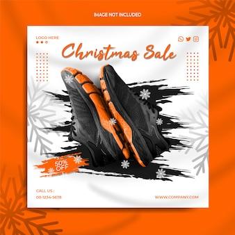 Рождественские смарт-часы продажа instagram в социальных сетях пост баннер шаблон рекламная коллекция часов
