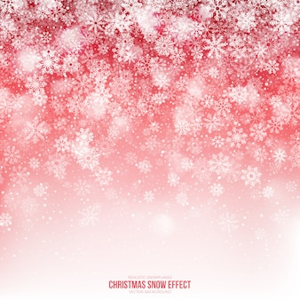 Christmas snow  effect abstract background