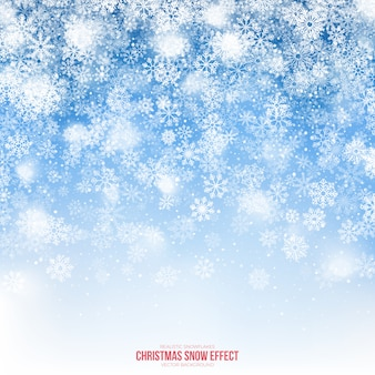 Christmas snow effect background