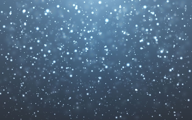 Christmas snow. falling snowflakes on dark background. snowfall.