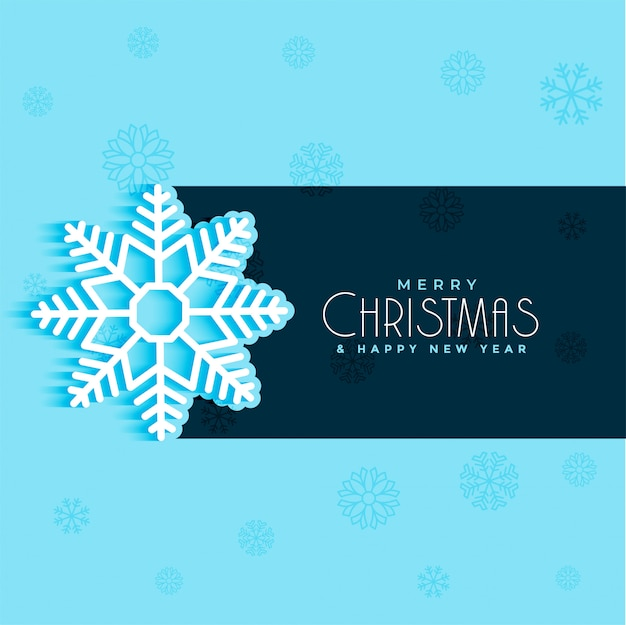 Рождественский дизайн снежинки на синем фоне