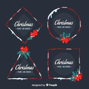 Cornici natalizie e raccolta di bordes
