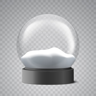 Christmas snow globe. glass ball.