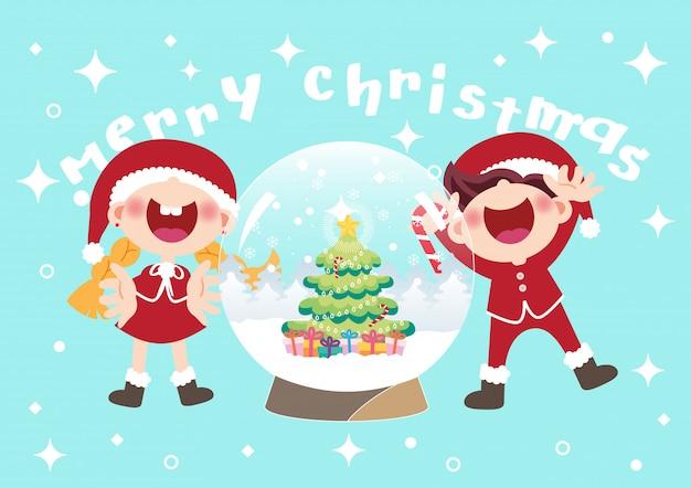 크리스마스 스노우 글로브 그림