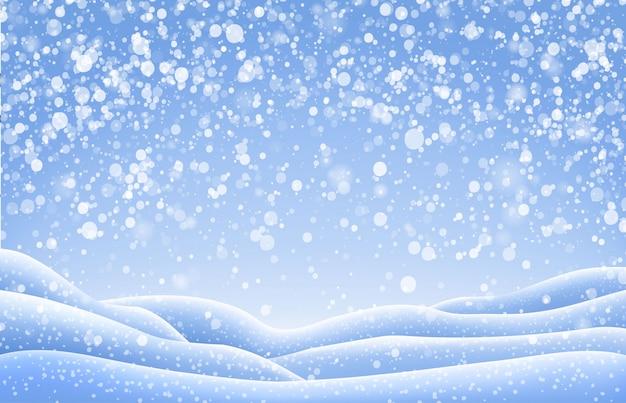 Christmas snow landscape
