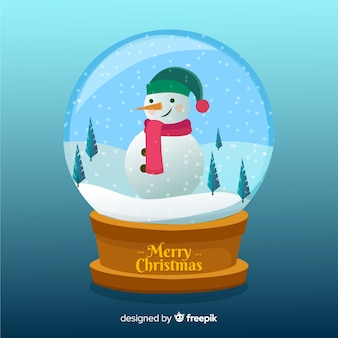 Christmas snowball globe background