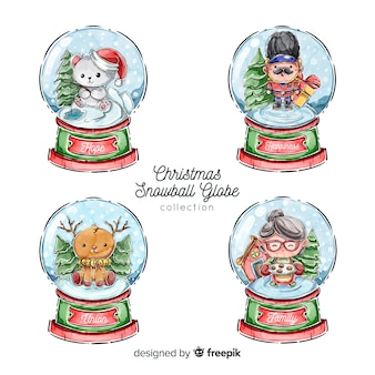 Christmas snowball globe collection