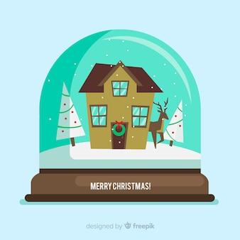 Christmas snowball globe