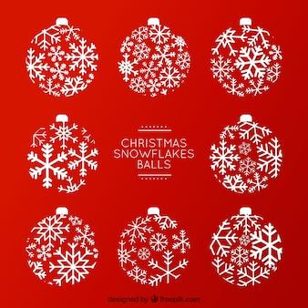 クリスマススノーフレークボール