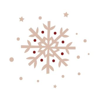 クリスマススノーフレークデザイン。ベクトルイラスト。