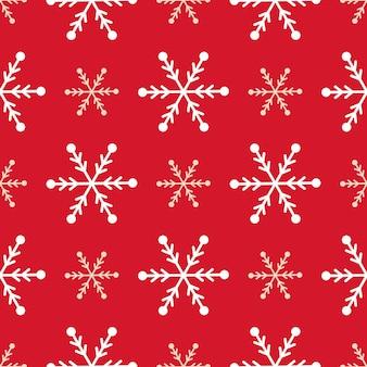 크리스마스 눈송이 원활한 패턴 겨울 휴가 선물 포장 눈 배경 벡터 일러스트 레이 션. 크리스마스 포장 벽지 축제 종이 또는 직물.