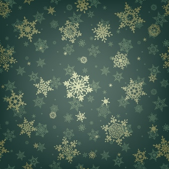 크리스마스 눈송이 원활한 패턴.