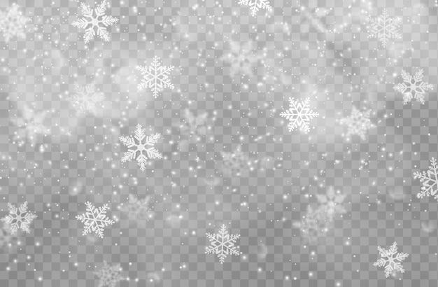クリスマススノーフレーク、雪、透明な背景