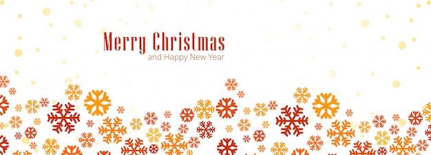 Christmas snowflakes card banner illustration
