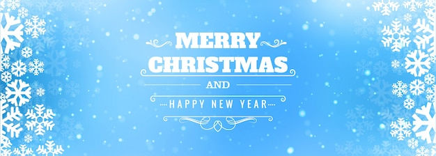Christmas snowflakes card banner
