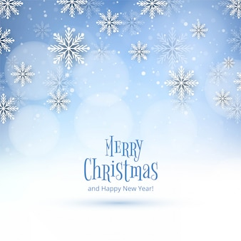 Christmas snowflakes card winter background