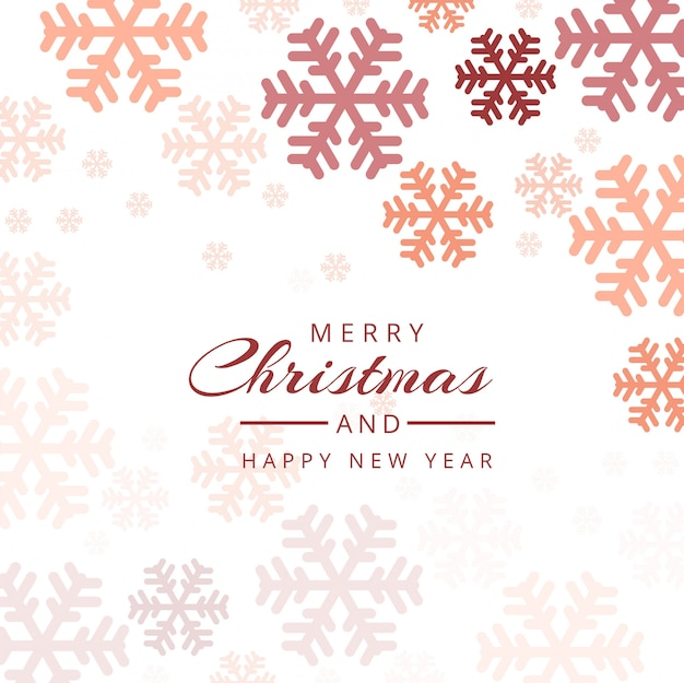Christmas snowflakes decorative colorful background vector
