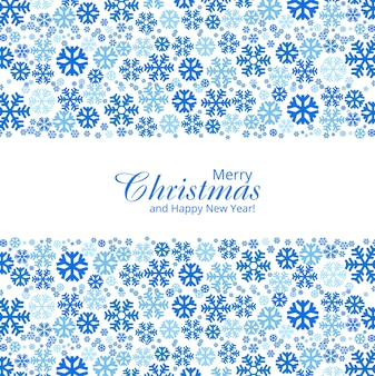 Christmas snowflakes decorative design