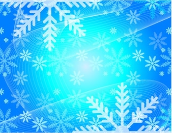 Christmas snowflakes flowers vector background