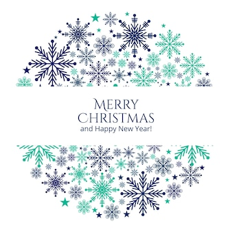 Christmas snowflakes greeting card background