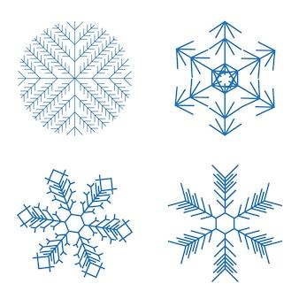 白い背景の上のクリスマスの雪片。ベクトルイラスト。 eps10