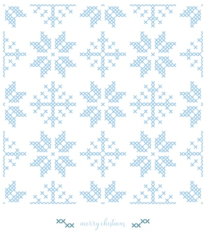 Christmas snowflakes pattern. knitted  pattern design or cross stitch embroidery.