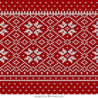 ウールのクリスマスの雪片パターン