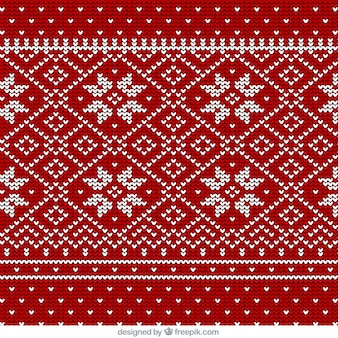 Christmas snowflakes pattern of wool