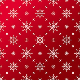 Christmas snowflakes red pattern