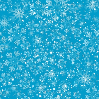 クリスマスの雪片シームレスなパターン。