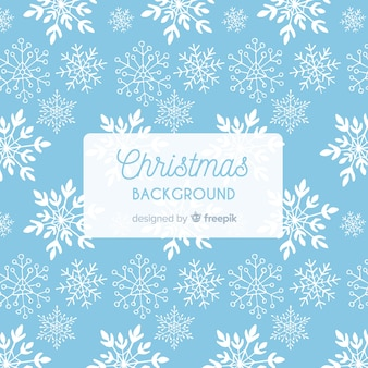 Christmas snowflakes simple pattern background